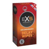 EXS Endurance Delay Wipes - Viivästyspyyhe 6 kpl